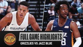 GRIZZLIES vs JAZZ BLUE (104-65)   NBA SUMMER LEAGUE