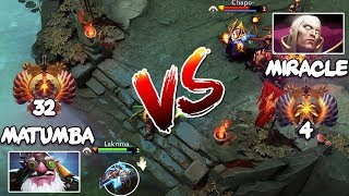 RANK 4 Miracle- Invoker vs RANK 32 MATUMBAMAN Sniper - EPIC LIQUID Mid Battle Dota 2