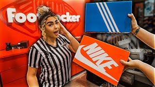 I Gave Free Shoes To Footlocker Employees But Made Them Choose - Nike VS Adidas!