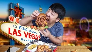 ALL YOU CAN EAT BBQ in Las Vegas! BIGGEST Burger EVER! - Video Youtube