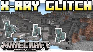 Minecraft Bedrock - X-RAY GLITCH ☠️ EASY ☢️ Tutorial - PS4 , MCPE , Xbox , Windows & Switch