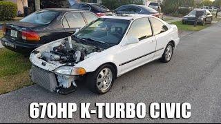 670HP K20 Turbo Civic Kills Ferrari 458, GTR, Z06 & MORE!!