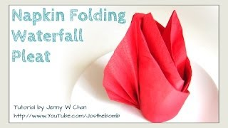 Thanksgiving Table Setting - How To Fold The Waterfall Pleat From A Napkin - DIY Napkin Folding