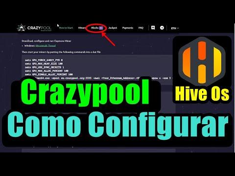 Minerar na Crazypool - Hive Os