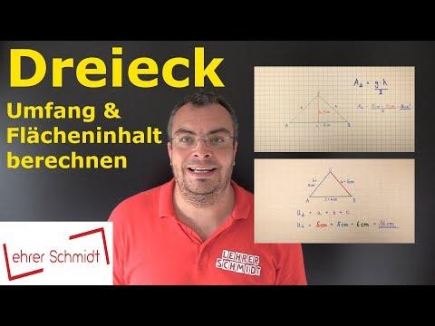 Dreieck - Flächeninhalt und Umfang berechnen | Mathematik | Lehrerschmidt - einfach erklärt!
