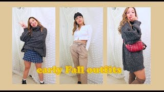 🍁 7 Early Fall Outfits (vertical View) | Anhle