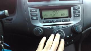 Radio/audio issue with the 2006 Honda Accord