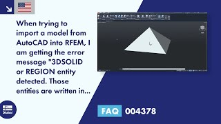 FAQ 004378 | When trying to import a model from AutoCAD into RFEM, I am getting the error message...