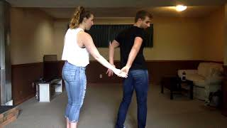 Learn How To Club Country Dance Part 1 - Basic Step and Spins