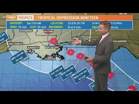 Saturday Morning Tropics Update: TD 19 will likely become Tropical Storm Sally today