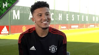 It's a dream come true to play for Manchester United Jadon Sancho's first interview
