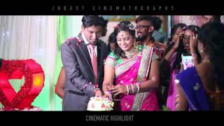 Beautiful Reception 2 Highlight - Naavinthiran + Prema by Jobest
