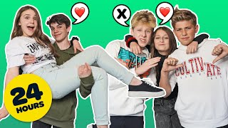 SWITCHING BOYFRIENDS with my BFF for 24 HOURS **COUPLES CHALLENGE**💋| Piper Rockelle