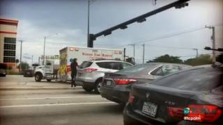Scene from outside Fort Lauderdale airport