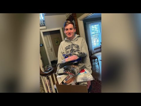 Michigan teen on mission to collect 10,000 pairs of socks and underwear for the homeless
