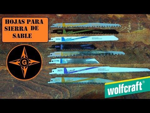 WOLFCRAFT, HOJAS PARA SIERRA DE SABLE PARA CORTAR DIFERENTES MATERIALES