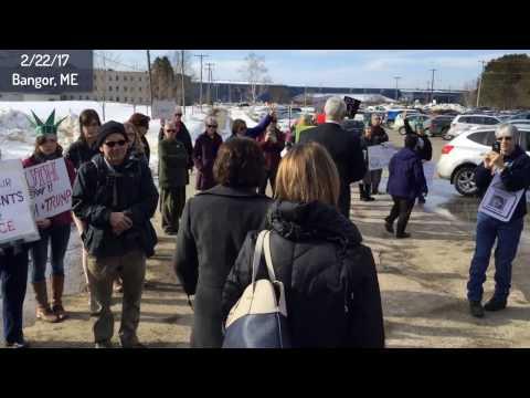 Silent Protest of Senator Susan Collins, Bangor Maine, February 22 2017