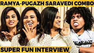 Ramya pandiyan & Pugazh's Best ever entertaining Interview - Don't Miss it