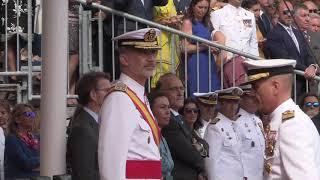 Su Majestad el Rey preside la entrega de Reales Despachos de Empleo en la Escuela Naval Militar
