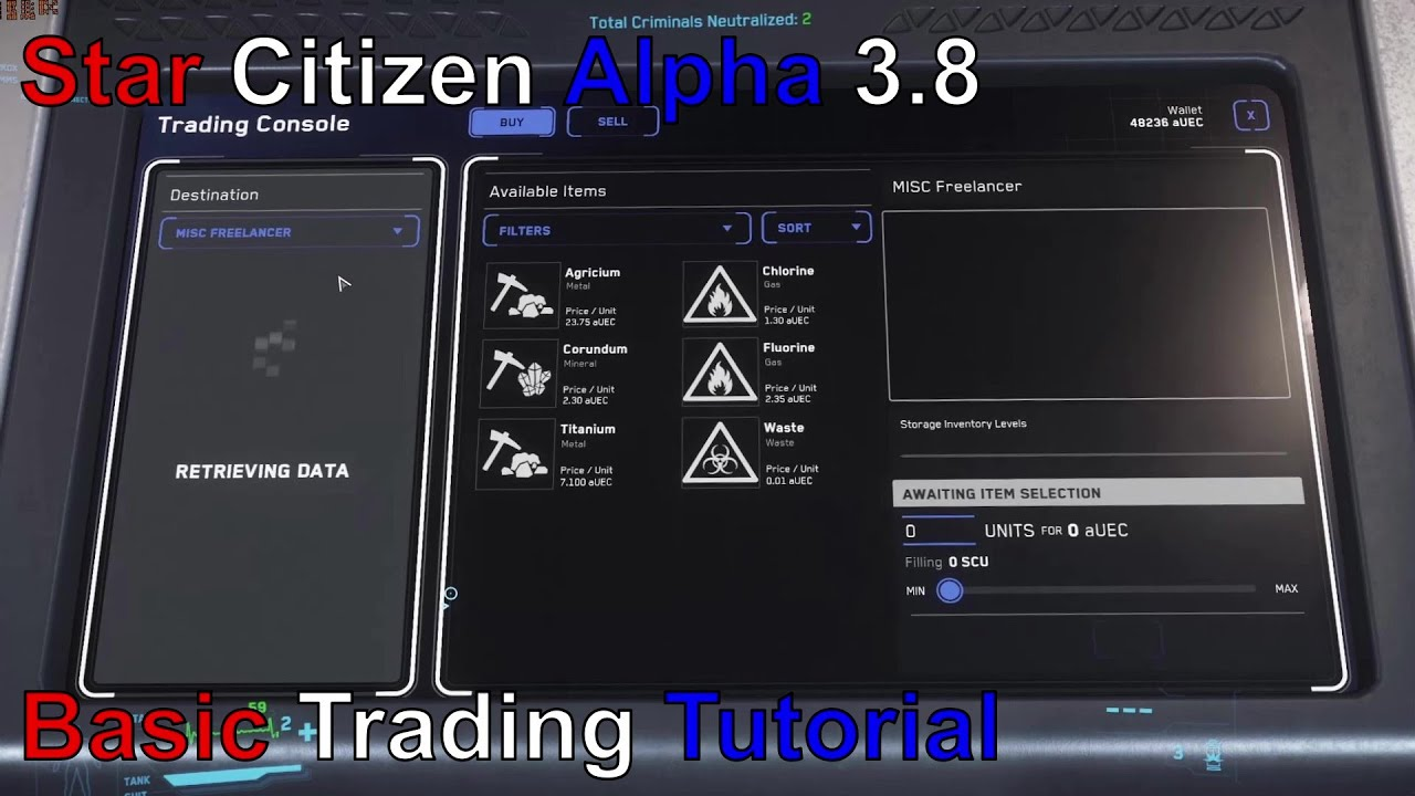 Star Citizen Alpha 3.8: Trading Tutorial