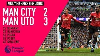 HIGHLIGHTS: Man City 2 - 3 Man Utd