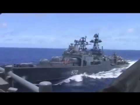 USS Chancellorsville Avoids Collision with Russian Destroyer Udaloy I DD 572