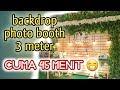 DIY backdrop photo booth pernikahan rustic 3meter