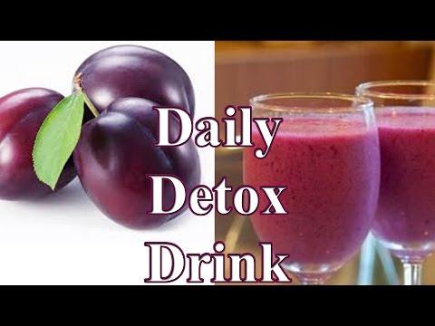 Nước detox giảm cân với mận