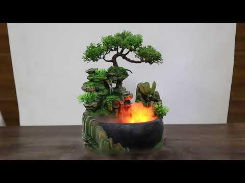 Настольный декоративный фонтан/водопад увлажнитель для дома Waterfall (WF-26156) Video #1
