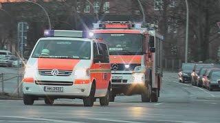 preview picture of video '3 Std. Videogarantiekreuzung Hamburg CIty = 11x BF/RD/BW/KBA auf Einsatzfahrt.'