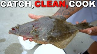 Catch, Clean, Cook - FLOUNDER! First Time Tasting!!