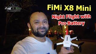 Fimi X8 Mini GPS Aerial Filming Drone Night Flight Testing with Pro Battery
