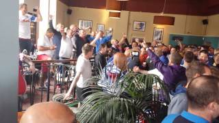 Rangers Supporters In The Pub Pre Derby Game Aug 2nd 2014