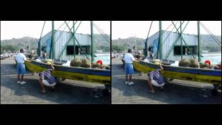 preview picture of video 'Fishing day at Puerto La Libertad, El Salvador (3D Video)'
