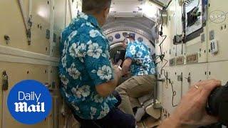 Astronauts repair air leak on the International Space Station