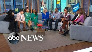 'Grown Ish' Cast Members In Times Square