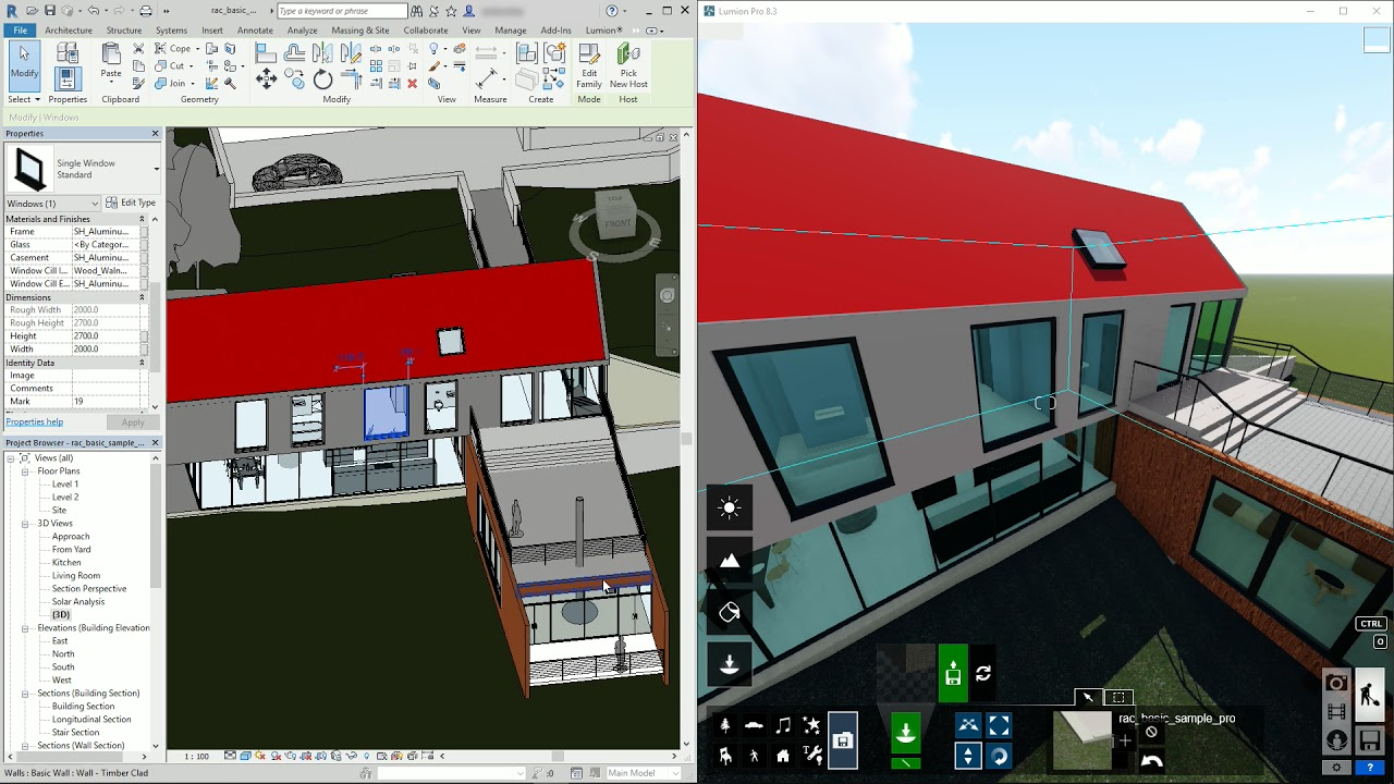 インポート:LiveSync for Revit モデルの同期(Lumion8 series)