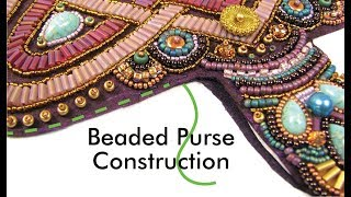 Beaded purse, simple construction, no frame needed