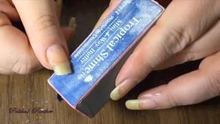 DIY How I Repair A Broken Nail And Patch Nail W/Crazy Glue