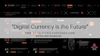 #Crypto #HUD Background   #Digital currency   Royalty Free Stock Footage