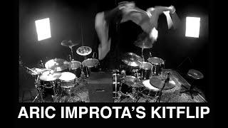 Aric Improta | Kitflip (Backflip Between 2 Drum Kits)