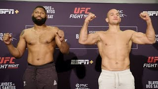 UFC Raleigh: Weigh-in Faceoffs