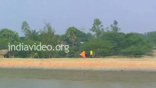 Village house near Brahmaputra river, West Bengal