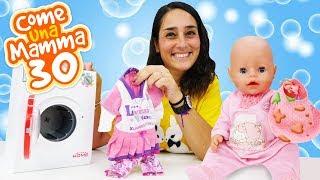 """Video e giochi per bambini. La lavatrice giocattolo. Nuovi episodi di """"Come una mamma""""."""