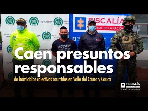 Fiscal Francisco Barbosa: Caen presuntos responsables de homicidios colectivos en Valle y Cauca