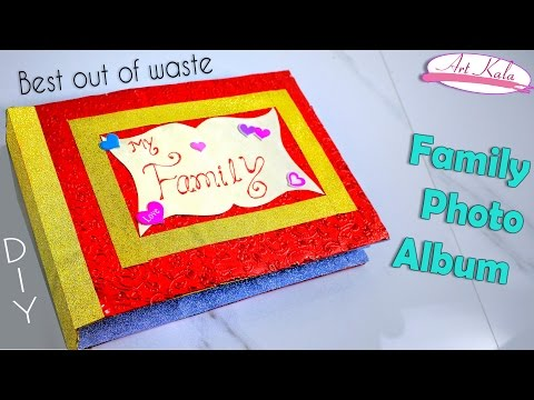 How to make photo album at home | photo books | Best out of waste | DIY | Artkala 150