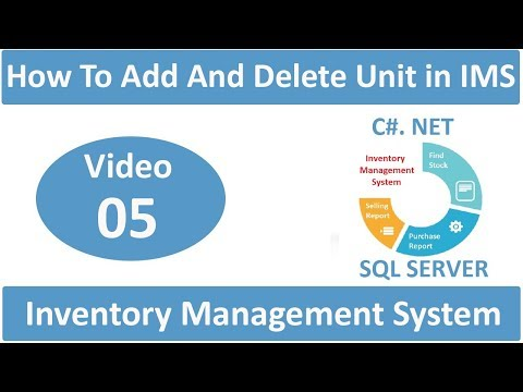 Add And Delete Units In Inventory Management System in csharp