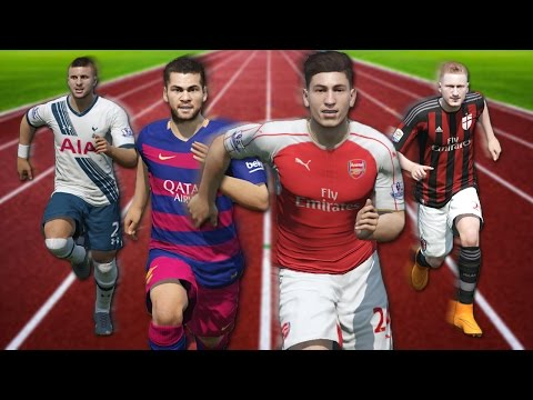 FIFA 16 Speed Test | Fastest Right Backs RB in FIFA