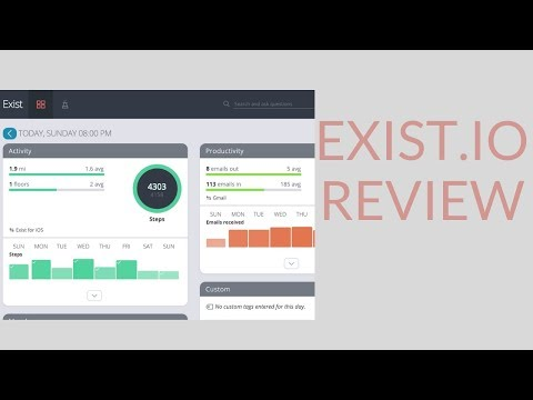 Exist.io App Review-- Bio-Hack &Track Your Whole Life Automatically