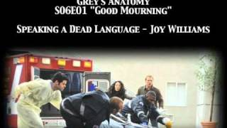 Grey's Anatomy S06E01 - Speaking a Dead Language by Joy Williams
